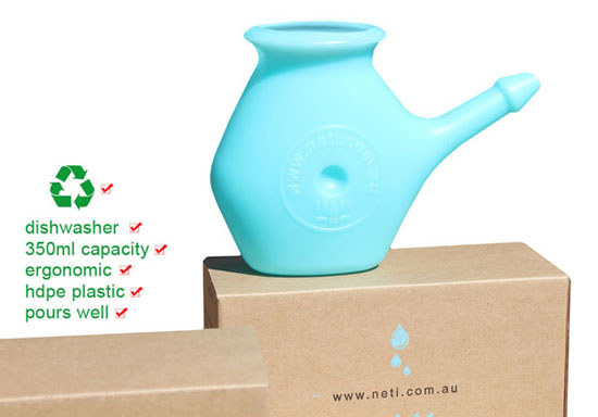 neti pot blue