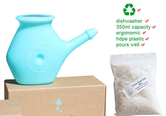 neti pot plus 350g sea salt